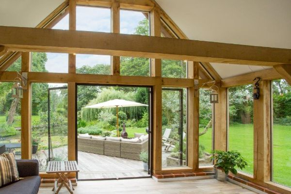 Bespoke Oak Frame Garden Room Extension3