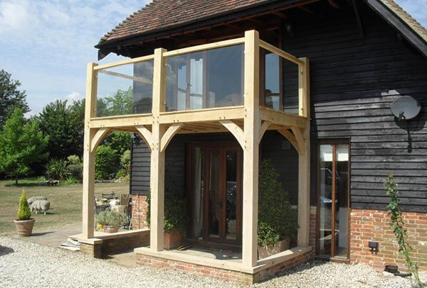 Bespoke Oak Framed Glazed Balcony