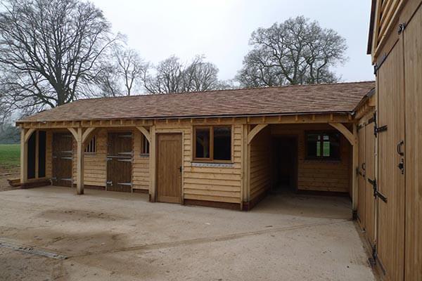 Bespoke Oak Framed Stable Complex