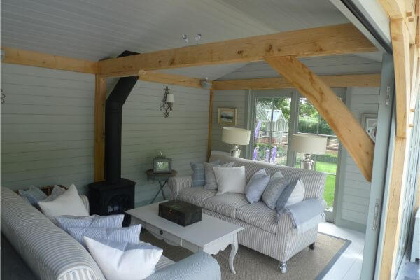Oak Pool House Interior