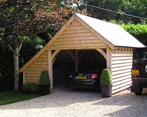 Oak Single Bay Garage