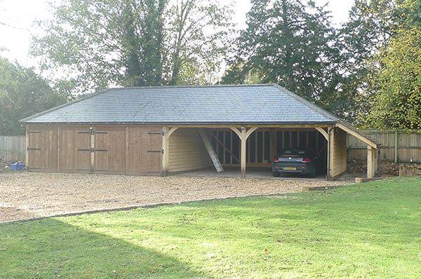 4 Bay Oak Garages