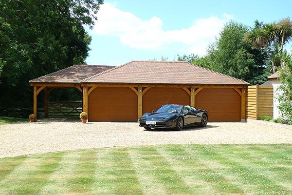 Four Bay Oak Garage
